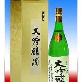 清酒 まが玉大吟醸 しずく酒 1.8リットル