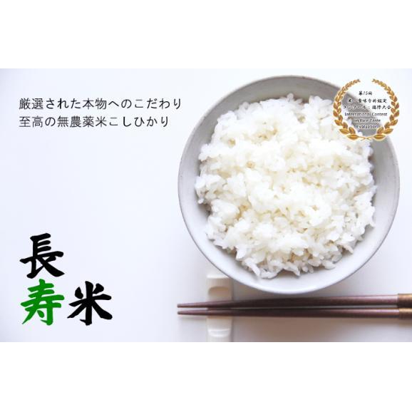 【無農薬米】長寿米 5キロ お好み精米! (玄米・5分・7分・白米)01