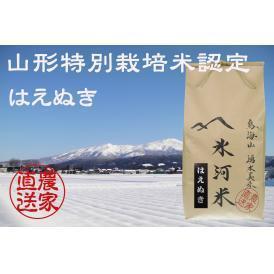 新米予約 9月下旬発送 山形特別栽培米認定 「氷河米」はえぬき 玄米10kg