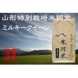 新米予約 10月上旬発送 山形特別栽培米認定 「氷河米」ミルキークイーン 玄米10kg