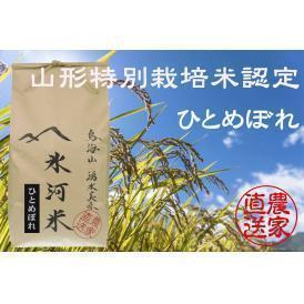 新米予約 9月下旬発送 山形特別栽培米認定 「氷河米」ひとめぼれ 精米10kg