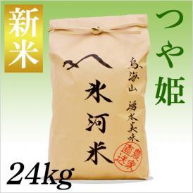 山形特別栽培米認定 「氷河米」つや姫 玄米24kg