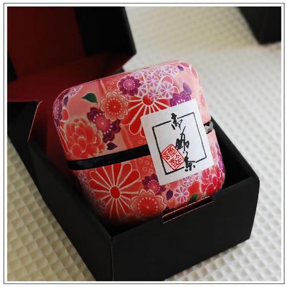 静岡高級煎茶 なつめ缶(紅)1缶箱入【80g】[五十右園]