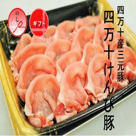 【送料込】四万十産三元豚・四万十けんぴ豚ロースしゃぶしゃぶ400g