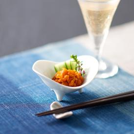 ムラサキウニ、バフンウニの2種類のウニを使っているので、双⽅の旨みを堪能することができます。