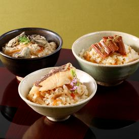 鯛、穴子、牡蠣、三種の味を楽しめる、老舗「たわら」の炊き込みご飯の素です。