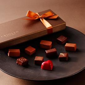自慢の10種類の味が入ったチョコレートセットです。