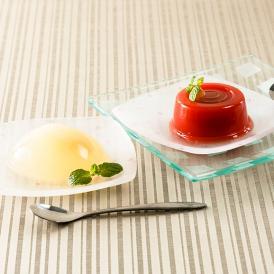 妙高山麓の高原で栽培されたトマトをジュースにしオレンジジュースで甘みを付け、葛に溶きました。