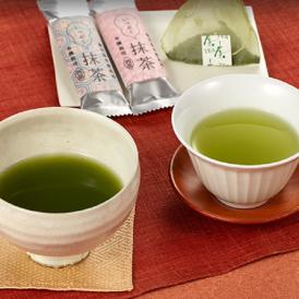本格抹茶はスティックパック入り、玉露・てづみ・よろこび・抹茶玄米は土に還るティーバッグ入りです。