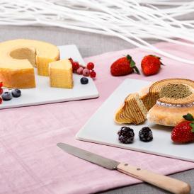 福井県産コシヒカリの米粉をブレンドし、バターや卵にもこだわった絶妙なバランスの味をお楽しみ下さい。