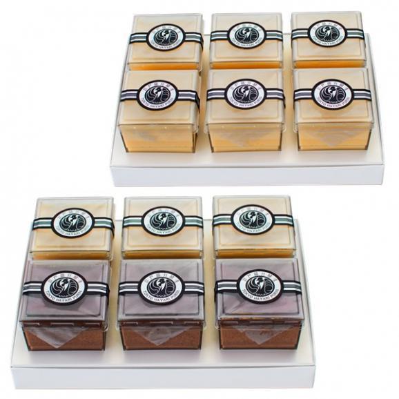 ギフト袋2枚とラッピングリボン付き【プレーン6個入・プレーンとチョコ6個入】の2箱セット01