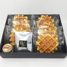 【送料無料・4月中のご注文の方限定10%OFF】甘さ控えめハニーワッフル&純みつ・紅茶セット