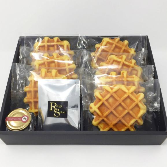 【送料無料】甘さ控えめハニーワッフル&純みつ・紅茶セット01