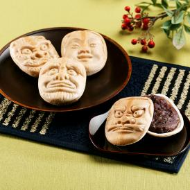 「備中神楽面最中」は、明治38年創業・三宅製菓本店の伝統の味。