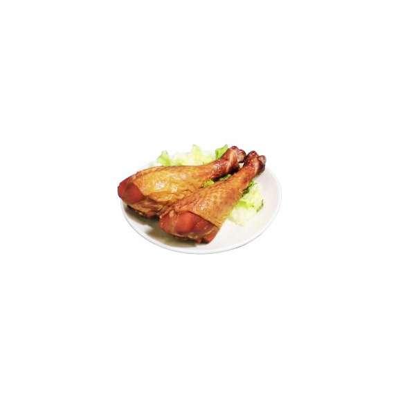 【スモークターキーレッグ】=業務用ケース販売/ターキードラムスティック400〜450g×5本×8パック/バーベキュー/ホームパーティ/七面鳥/ターキーハム/ホットスナック02